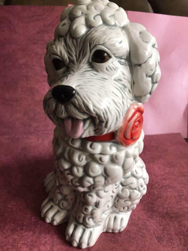 NEIMAN MARCUS YuYu Poodle Ceramic Cookie Jar