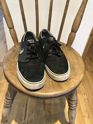 Nike Stefan Janoski SB Mens Black Trainers Size 10 Zoom Air  Used