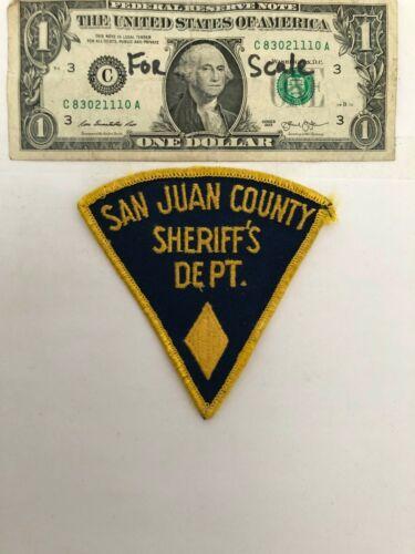 Very Rare San Juan County New Mexico Police Patch Un-sewn great condition
