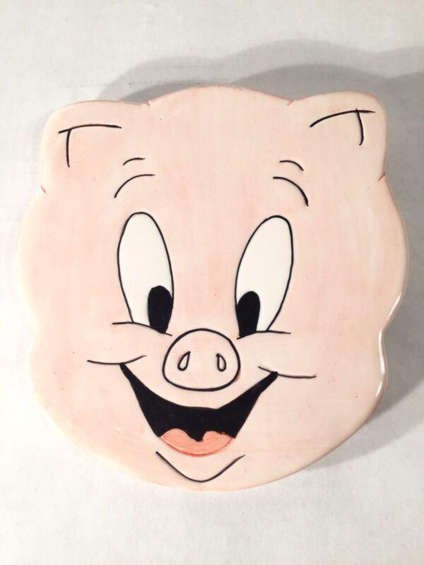 Vintage Warner Bros. 1995 Ceramic Porky Pig Trivet