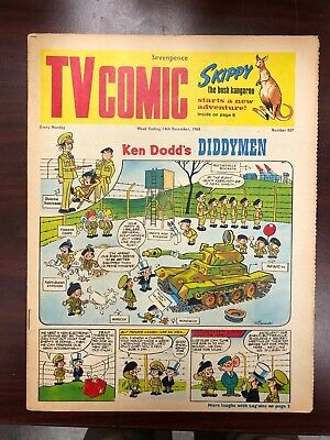 TV COMIC #887 weekly British comic book December 14 1968  Avengers Doctor Who