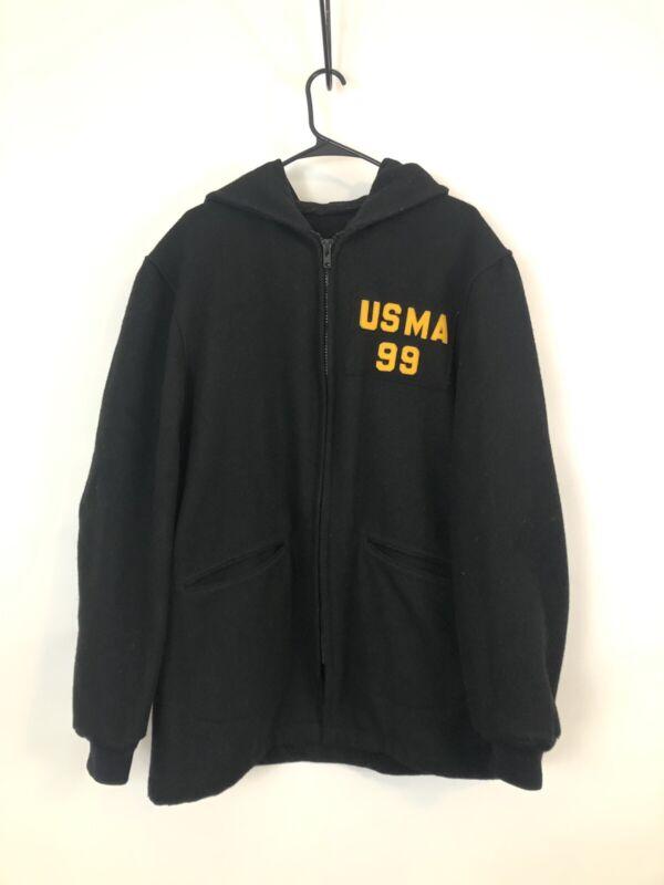 USMA 1999 West Point Cadet Military Army Black Wool Parka Jacket Coat 42 Vintsge