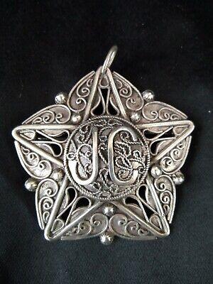 Antique Brooch Pendant Berber Silver Watermarked
