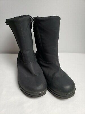 Totes All Weather Footwear Girl's Black  Zippered Boots Size 6M Youth  Girl Black Footwear