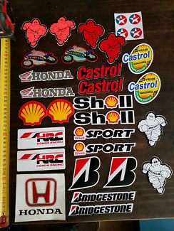Stickers / Decal  Honda Bridgestone Shell Michelin Castrol