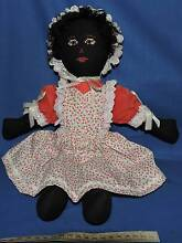 """lovely 16 """" gollywog girl with black hair black body and face Port Macquarie Port Macquarie City Preview"""