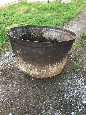 Vintage Victorian Cast Iron Industrial Pot