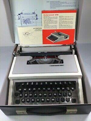 Olivetti Underwood 310 Portable Typewriter Excellent 218