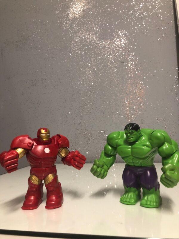 "2013 Hasbro Marvel Battle Masters ""Hulk"" & ""IRON MAN""4.5"" Battle Control."