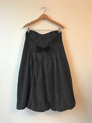TORRID Stretch Cotton Star Polka Dot Print Bubble Strapless Dress Sz 18 PERFECT Perfect Polka Dot Dress