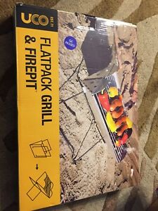 Flat pack folding grille and fire pit brand new with carry bag