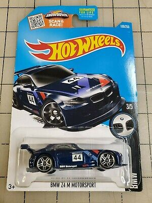 Hot Wheels 2012 BMW Z4 M Motorsport Blue BMW 3/5