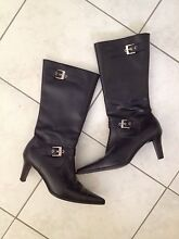 STYLISH BLACK LEATHER BOOTS Waikiki Rockingham Area Preview