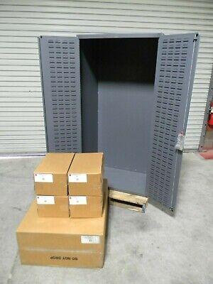 Durham Heavy Duty Storage Cabinet W Bins 14 Ga. Steel 72 H X 38 W X 26 D