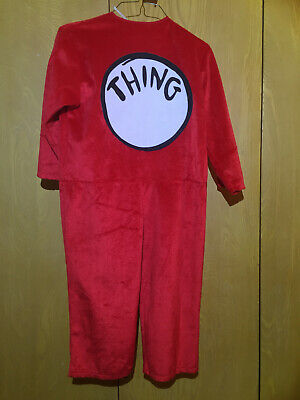 HALLOWEEN COSTUME DR. SEUSS CAT IN THE HAT THING 1 DELUXE TODDLER KIDS