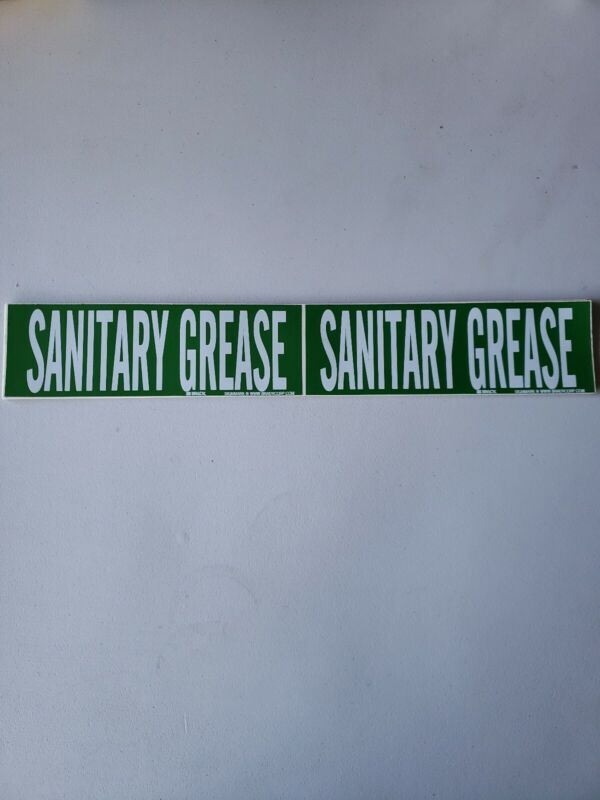 Sanitary Grease Pipe Markers