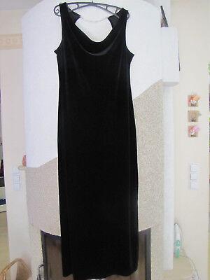 44 Kleid Ball Hochzeit schwarz Samt Wasserfall schön ausgefallen Maße beachten.
