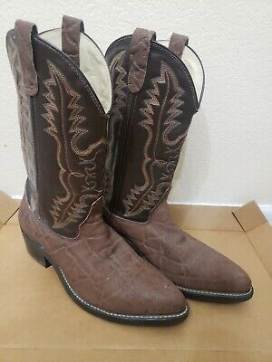 Double H Men's 10.5 D Brown Steel Toe Pull On Western Rancher Work Boots