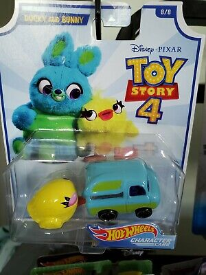 HOT WHEELS CHARACTER CARS DISNEY PIXAR TOY STORY 4 DUCKY AND BUNNY 8/8