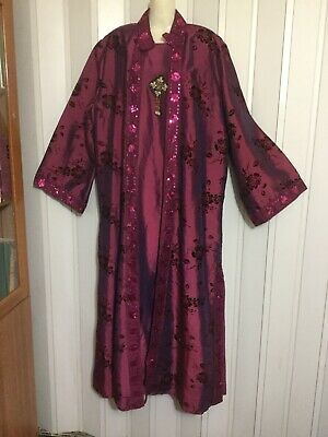 2 pcs dress & jacket Dress Caftan Maxi Ethnic Gown cardigan Arabic4y