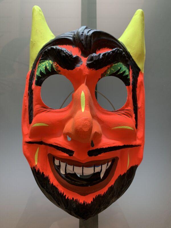VINTAGE 1960s Red DEVIL DEMON HALLOWEEN MASK BEN COOPER ? Style