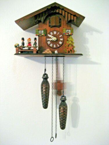 "Vintage Swiss Musical Cuckoo Clock 8.5"" x 5"" x 6.5"""