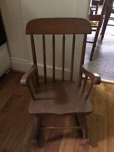 Sturdy child's rocking chair
