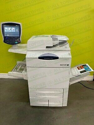 Xerox Workcentre 7775 Laser Color A3 Printer Copier Scanner Finisher 75ppm 150k