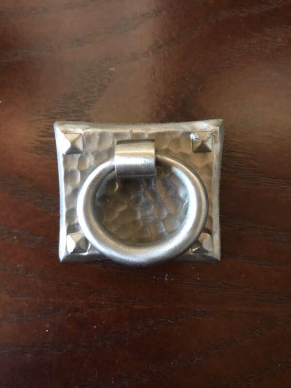 Emtek 86040 hammered ring pull 1-3/4 X 1-1/2 Satin Nickel