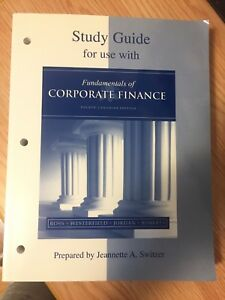 Study Guide - Fundamentals of Corporate Finance