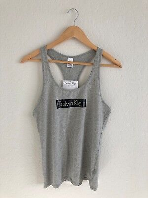 Women's CALVIN KLEIN Sleepwear Tank Top size S grey $59 Calvin Klein Womens Sleepwear