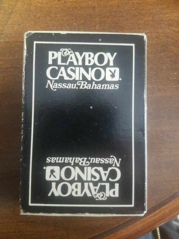 THE PLAYBOY CLUB CASINO NASSAU BAHAMAS SOUVENIR PLAYING CARDS