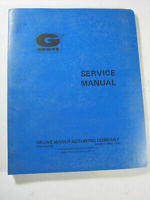 Grove Crane Tm1275 Service Manual 1975 Oem