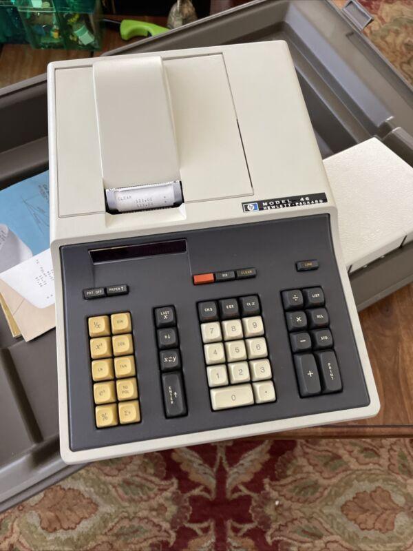 Hewlett Packard Model 46 Scientific Calculator Complete Rare