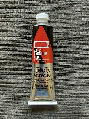 Learn to Paint Better : Cadmium Red - Holbein Heavy Body Acrylic 60 ml (Best Heavy Body Acrylic Paint)