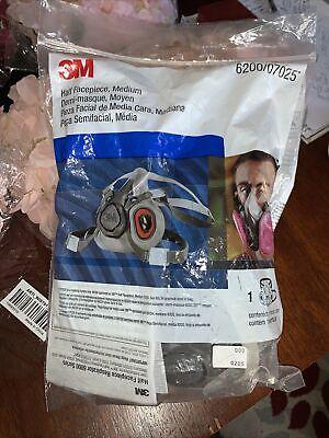 3m 6200 07025 Medium Half Facepiece Reusable Respirator M Sealed Face Piece