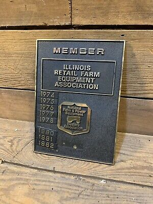 National Farm And Power Equipment Dealers Association Plaque Award Years Tractor