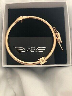 New 'Ashley Bridget' Gold Toned  Charm Bracelet Hinged Bangle Lighting Bolt