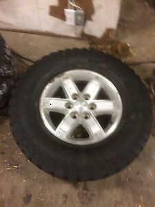 Rims and tires off GMC 1500