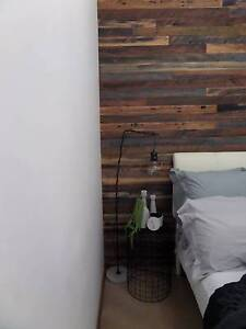 Industrial hardwood cladding. Feature wall. Easy to install DIY