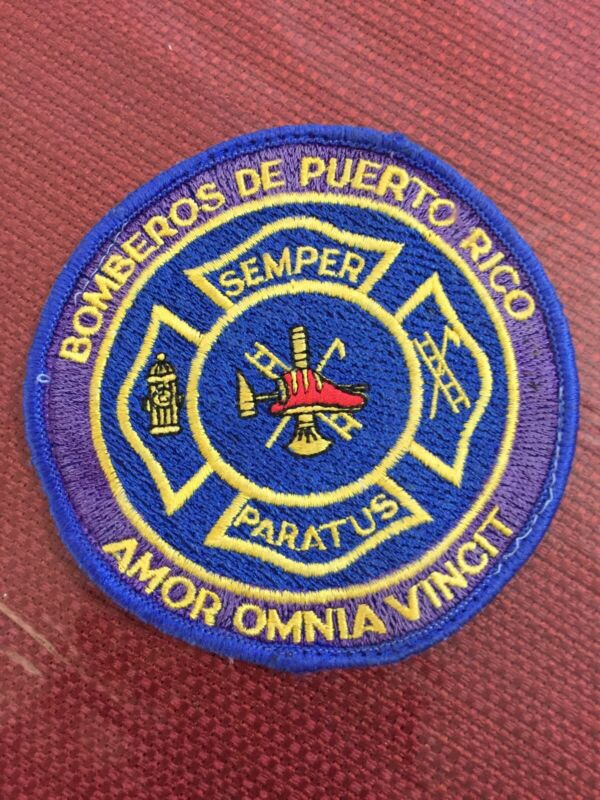 PUERTO RICO POLICE PATCH... FIREFIGHTERS OF PUERTO RICO (OLD)