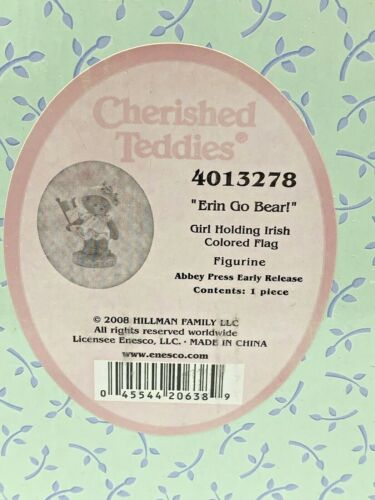 Cherished Teddies 2009 Erin Go Bear Irish 4013278 (NEW)