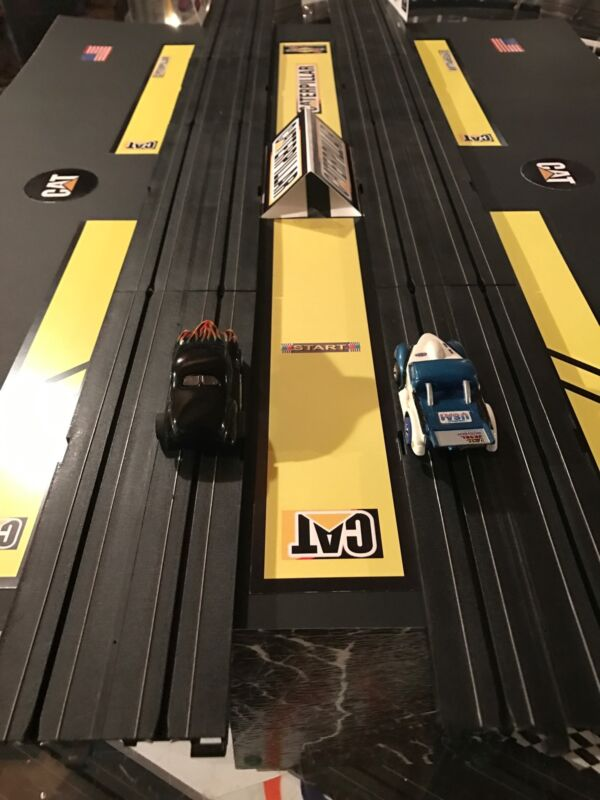 HO SCALE DRAG STRIP STAGING AND BURNOUT AREA #3