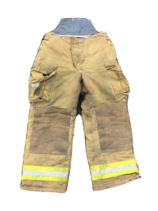 FIRE DEX Turnout Bunker Gear Firefighter Pants Suspenders Size 34 x 29