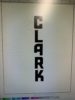 Set Of Whiteblack Or Green Clark Forklift Vertical Decals 20 Inches