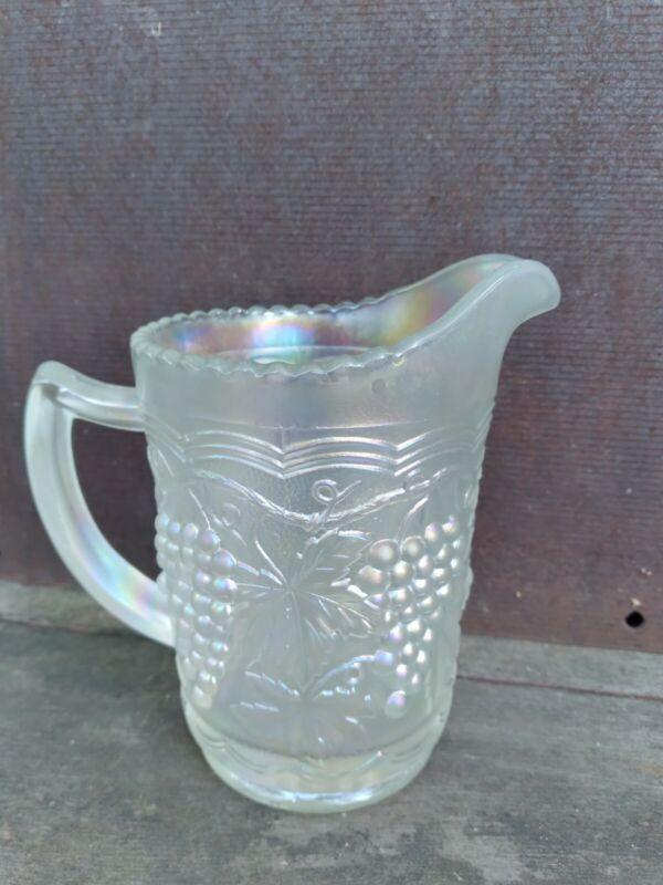 Imperial Glass White Grape Carnival Milk Pitcher