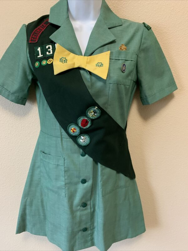 Vintage Girl Scout Uniform and Accessories circa 1960-70