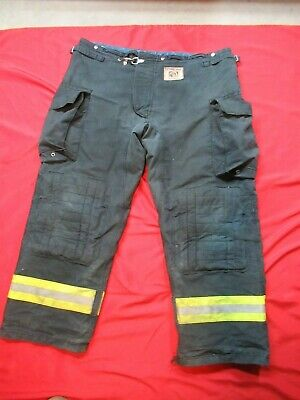 Morning Pride Fire Fighter Turnout Pants 46 X 30 Black Bunker Gear Rescue
