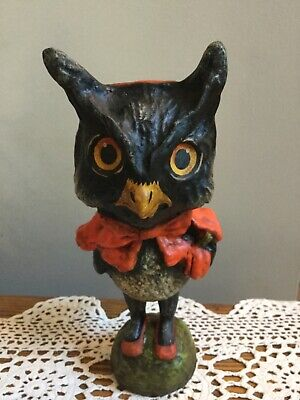 """7.5"""" Owl in Red Cape designed by Debra Schoch produced by Bethany Lowe Retired"""