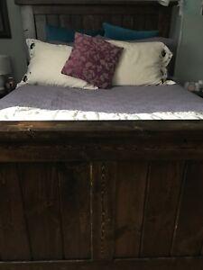 Handmade Solid Wood Queen Bed Frame